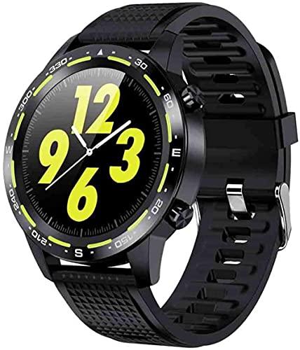 Reloj inteligente impermeable pulsera inteligente con podómetro reloj inteligente deportivo actividad actividad tracker control de música-amarillo