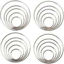 Genie Crafts 20 Piece Set Metal Macrame Hoop Rings for Dream Catchers and DIY Crafts, 5 Sizes