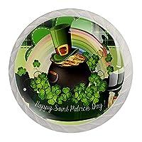 引き出しハンドルは丸いクリスタルガラスを引っ張る キャビネットノブキッチンキャビネットハンドル,パトリックのアイルランドの日の運