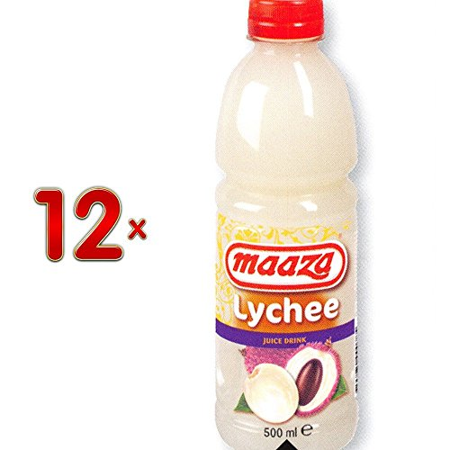 Maaza Lychee Tropical Fruit Drink 12 x 500 ml Flasche (Litischsaft)