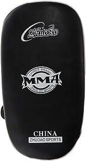 Flameer 高品質 耐久 PU製 UFC MMA ムエ キック ボクシング ストライク カーブド アーム レッグ パッド パンチ ホワイト・ブラック