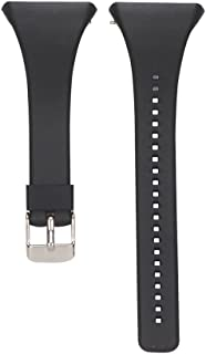 EXMRAT for Polar FT4/FT7, Replacement Wristbands Silicone Watch Band Strap for Polar FT4/FT7 Heart Rate Monitor (Black)