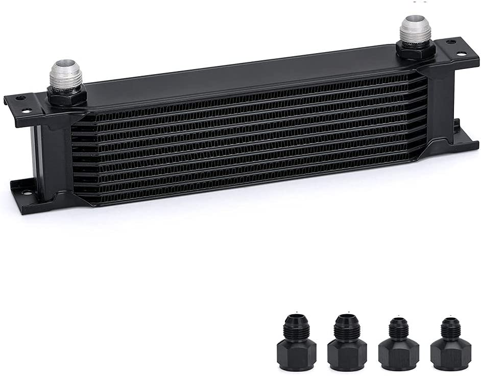PQY 10 Row AN10-10AN Stacked Plate Cooler 8AN Adapter Special price for a limited time Nashville-Davidson Mall 6AN Un Oil