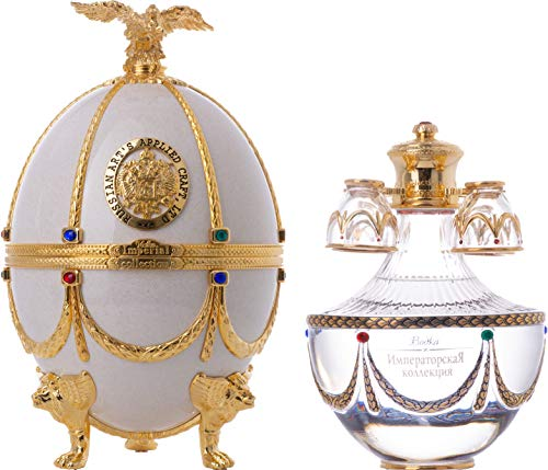 Imperial Collection Vodka Fabergé Ei Weiss 40% - 700 ml in Giftbox