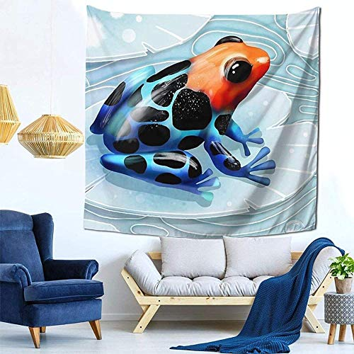 DGSJH Tapiz de rana de dardo venenoso tapiz colgante de pared Hippie bohemio psicodélico indio dormitorio decoración para sala de estar dormitorio 150x200cm
