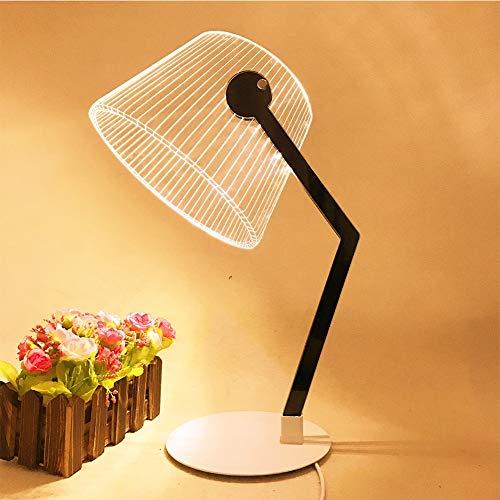 3D kreative Tischlampe Acryl LED Nachtlicht Nacht Schlafzimmer Schlafzimmer Tischlampe Eulenlampe Leselampe Kinder und Erwachsene warmes Licht tut nicht weh Augen (stil : C)