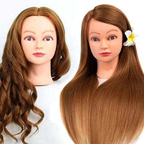 Hair Perruque Mannequin Professionnel en mélange Coiffure Salon Tête à coiffer la Formation et la Pratique Chef tissé de Curling
