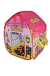 Imaginative and Inspiring Design - Easily stored away in it's own compact carry bag Fast & Simple Pop up Design with Integrated Floor - No Assembly Required The Sweet Shop playtent has a Raised Doorstep for Containment of the Brightly Coloured Play B...