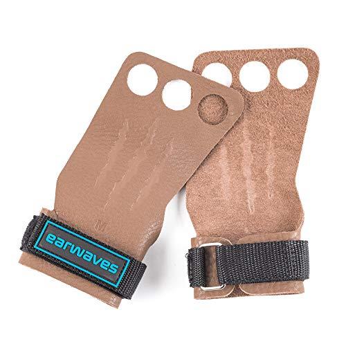 Earwaves ® Rex Grips - Calleras Crossfit Cuero para Hombre y Mujer. Guantes para Calistenia, Halterofilia, Dominadas, Pull ups, Kettlebells, Gymnastics, etc