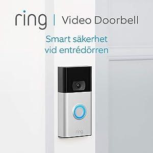 Ring Video Doorbell | 1080p HD-video, avancerad rörelsedetektion och enkel installation