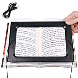 Magnifying Glasses Handsfree Magnifier with Light 3X Large Full-Page 6 LED Foldable Rectangular