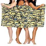 Cute Doormat Minions - Toallas deportivas de microfibra de secado rápido y absorbente, para gimnasio, fitness, yoga, camping