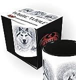 Spiral - WHITE WOLF - Keramiktasse - in Geschenkbox - 0,3 l
