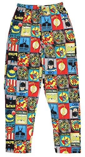 DC Comics Justice League Blocks Knit Graphic Sleep Lounge Pants (XX-Large)