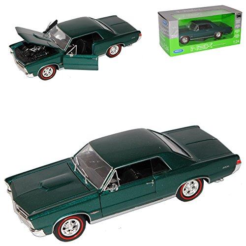 Welly Pontiac GTO Coupe 1965 Grün 1/24 Modell Auto