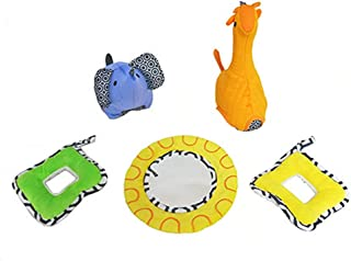 Replacement Parts for Sensory Gym - Fisher-Price Jonathan Alder Sensory Gym DFP71 ~ Replacement 5 Soft Plush Toys ~ Giraff...