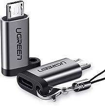 UGREEN 2X Adaptador USB C a Micro USB, Adaptador USB C Hembra a Micro USB Macho para Xiaomi Redmi Note 6 Pro Mi A2 Lite Redmi 6A, Samsung J7 J6 S7 S6 Note 5, Huawei P Smart P10 Lite P9 Lite P8, ect.