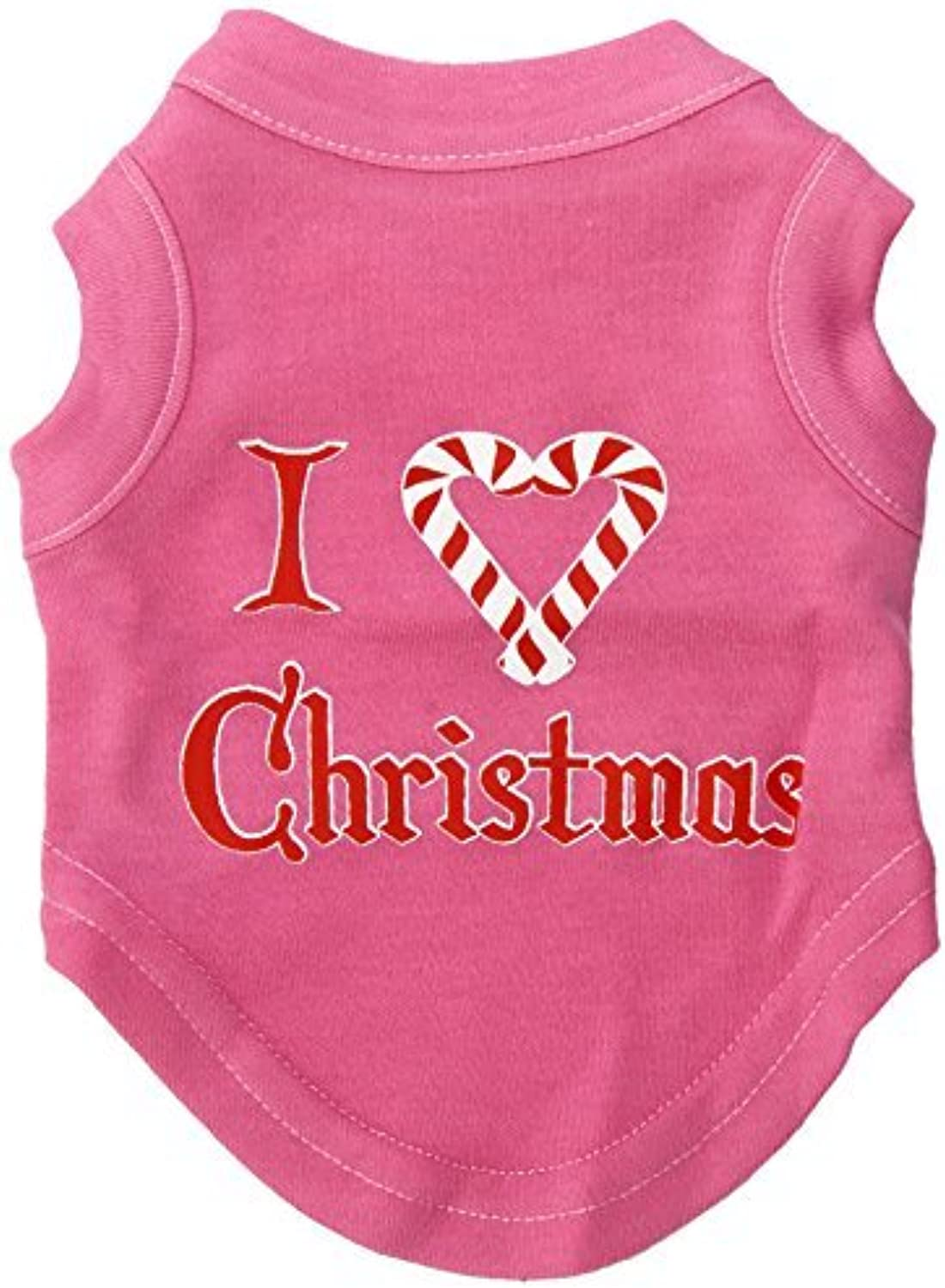 Mirage Pet Products 8Inch I Heart Christmas Screen Print Shirts for Pets, XSmall, Bright Pink by Mirage Pet Products
