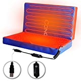 Heated Stadium Seat Cushion Portable Electric Pad with 3 Heat Setting for Outdoor