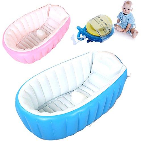 Suyi Aufblasbare Babybadewannen und -sitze Tragbare Badewanne Kind Kleinkind Kleinkind Neugeborene Aufblasbare Faltbare Dusche Pool Reise Für 0 bis 3 Jahre