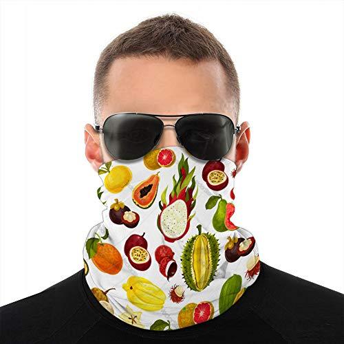 Xunulyn Bandana Couverture Bouclier Femmes Hommes pour poussière Vent Protection Solaire Fruits tropicaux Exotiques modèle sans Couture Polaire Couverture Bouclier