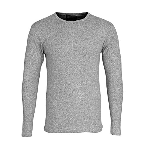 Petrol - T-Shirt à manches longues - Homme Gris Gris