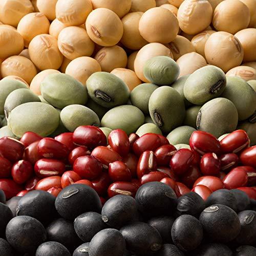 雑穀 雑穀米 国産 豆4種ブレンド[ホール豆(小豆/大豆/黒大豆/青大豆)] 1kg(500g x2袋) 送料無料※一部地域を除く 雑穀米本舗