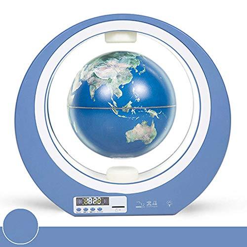 Altavoz magnético de levitación global, altavoz Bluetooth, rotación de 360°, con reloj despertador digital, apto para regalos de dormitorio