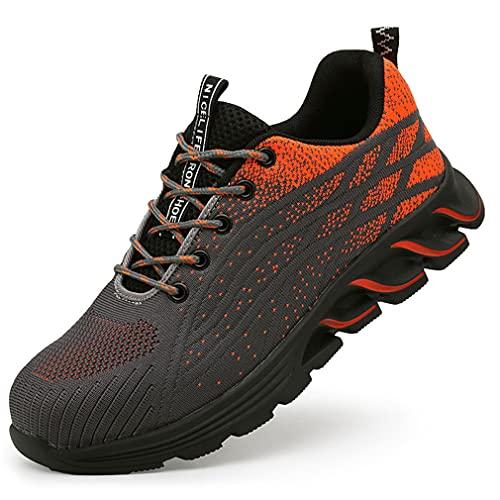 Zapatillas de Seguridad Unisexo - Sport Sneakers Calzado de Industrial y Deportiva Ligero Transpirable Zapatos de Trabajo con Punta de Acero para Hombre - Comodos Transpirable
