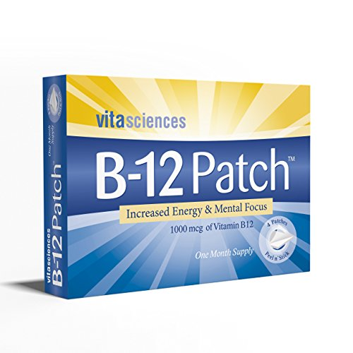 Vita Sciences Powerful Vitamin B-12 Patch | Extra Strength B12 Topical Patches | Men/Women | Boost Energy, Focus, Memory & Metabolism 1 Month Supply