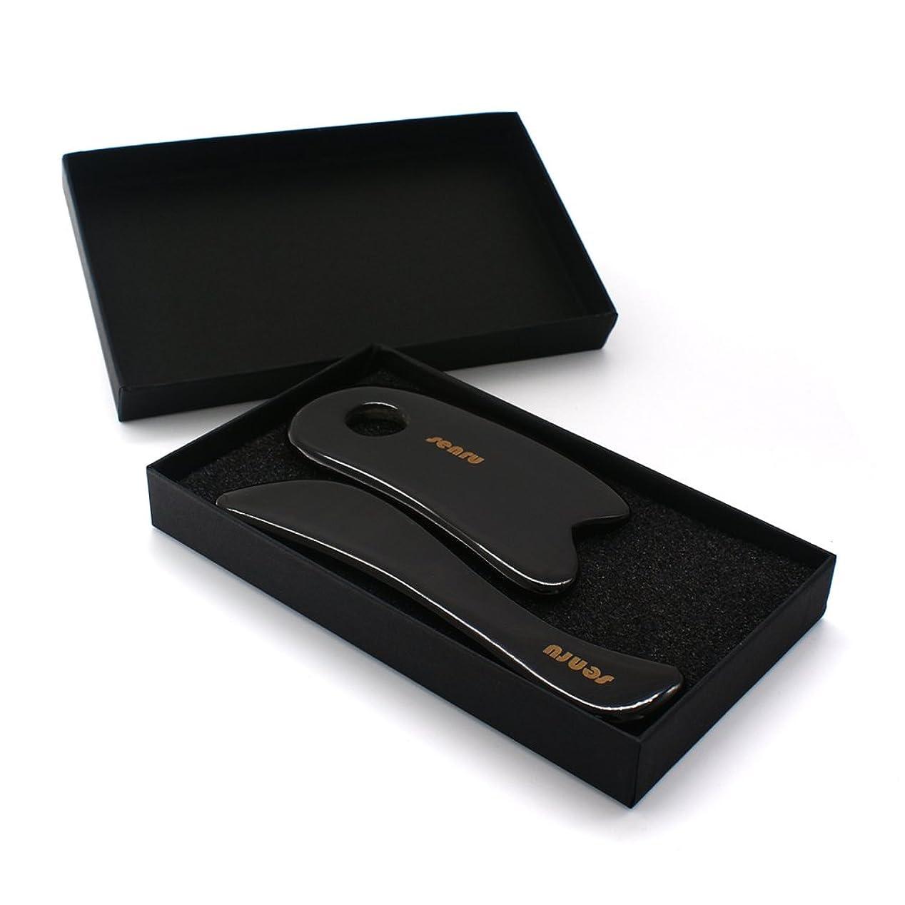 ボス適度な再生SENRU マッサージツール 水牛角カッサ道具、カッサボード、カッサマッサージ道具