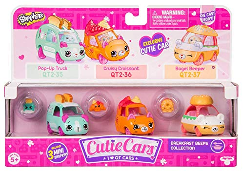 Cutie Cars Shopkins Three Pack - Breakfast Beeps Collection