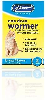 Johnson's One Dosis Wormer para Gatos y Gatitos, 2 Piezas