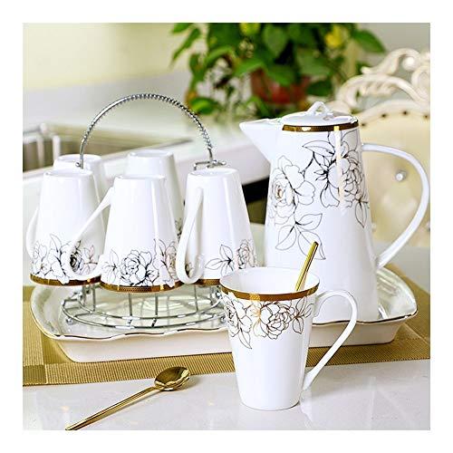 Generic002 De Estilo Europeo, Juego de té Taza de hogar salón Bandeja de la Taza de té for Beber cerámica Taza Taza de Agua de la Tetera hervidor de Agua y Resistente al Calor