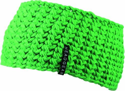 Myrtle Beach Damen Stirnband Crocheted Headband, Lime-Green, One Size, MB7947 LIM