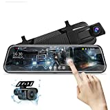 10'' Mirror Dash Cam Night Vision 1080P FHD Full Touch Screen Front and Rear...