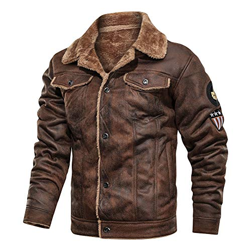 FIVESTAR LEATHER Men's Air Force A-2 Leather Flight Bomber Jacket - Brown (M)
