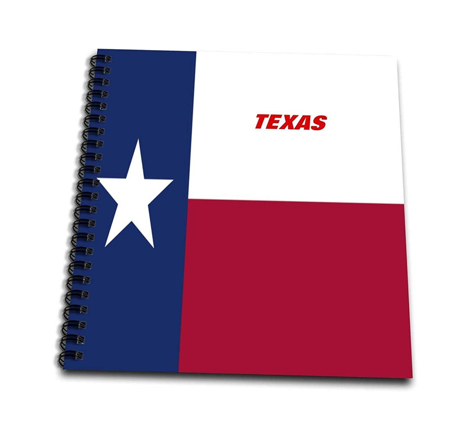 3dRose db_45021_1 State Flag of Texas-Drawing Book, 8 by 8-Inch