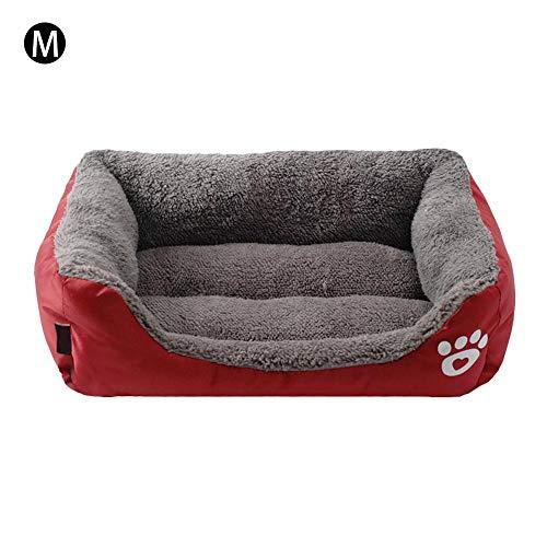 Hondenmand voor honden, bank, bed voor honden, katten, huisdieren, keuze uit 3 kleuren, M, Rode Wijn