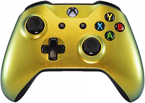 Xbox One Wireless Controller for Microsoft Xbox One - Custom Soft Touch Feel - Custom Xbox One Controller (Gold Chameleon)