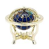 Odoria 1/12 Miniatur Exklusives Globus mit Golden Ständer Für Puppenhaus Dekoration Zubehör