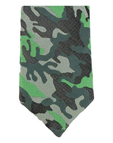 Knightsbridge Neckwear Camo vert Silk Skinny cravate de