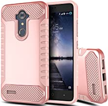 ZTE Grand X Max 2 Case, Zmax Pro Case,BSlvwg Drop Protection Anti Scratch Heavy Duty Hybrid Dual Layer Case for ZTE Grand X Max 2 / ZTE Max Duo/Imperial Max Z963U / Kirk Z988 Z981,Rose Gold