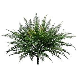 28″ Plastic Mountain Fern Bush w/82 Leaves Green (pack of 4)