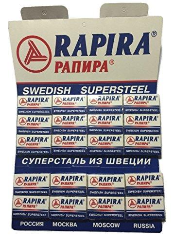 100 Rapira Swedish Super Steel Rasierklingen