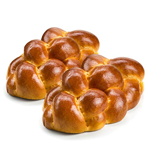 Stern's Bakery Kosher Challah Bread-15 Ounce Traditional Challah for your Holiday or Shabbat Table [ 2 Challah Breads Per Pack] (Long Braided Challah Bread)