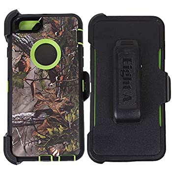 Heavy Duty Defender Impact Rugged with Built-in Screen Protector Camouflage Case Cover with Clip for Apple iPhone 6S  Green-Tree-Camo