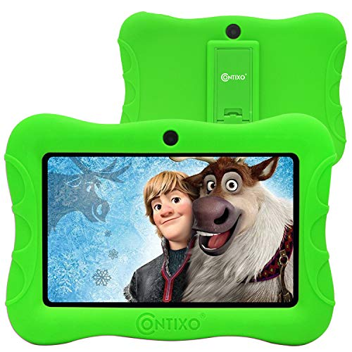 Contixo 7' Kids Tablet V9-3 Learning Toy Android 9.0 Parental Control Tablets 2GB RAM 16GB Touchscreen HD Display WiFi Camera 20 Education Apps Best Gift (Green)