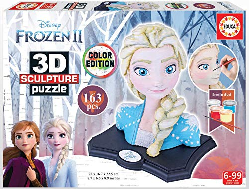 Educa- Frozen II 3D Sculpture Puzzle, Multicolor (18374)
