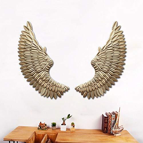 1 par de alas de ángel para decoración de pared de 38 x 100 cm